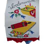 Woodenware Applique Towel