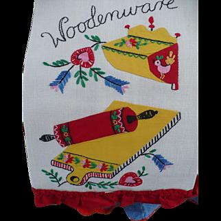 Woodenware Applique Towel