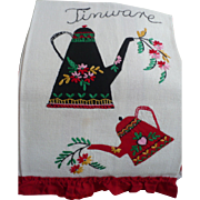 Tinware Applique Towel