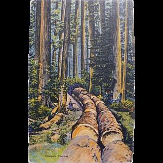 Oregon  Timber Postcard