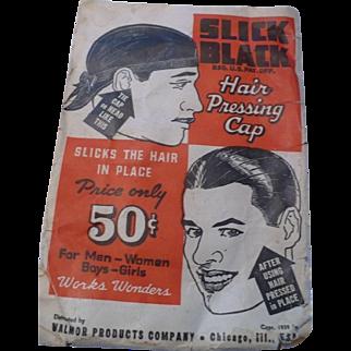 Valmor Slick Black Pressing Cap 1939