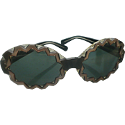 Rickrack Plastic Sunglasses 1960's