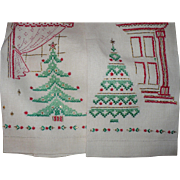 Xmas Tree Embroidered Guest Towels