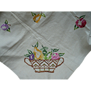 Embroidered Fruit Tablecloth