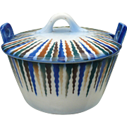 Czech Pottery Butter Tub