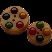 Multicolor Bakelite Buttons