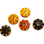 Bakelite Wood Buttons