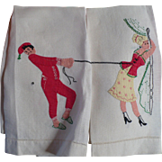Applique Man Lady Towels