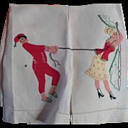 Applique Man Lady Towels