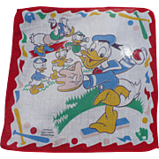 Donald Duck Baseball Handkerchief