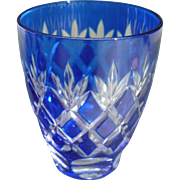 Cut Crystal Cobalt Shot Glass
