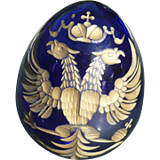 Russian Cobalt Glass Egg