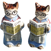 Kittys Newspaper Salt & Pepper