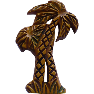 Bakelite Palm Tree Pin