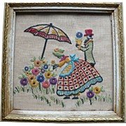 Framed Embroidered Picture