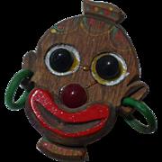 Black Tribal Wood Pin