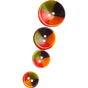 4 Multicolor Bakelite Buttons
