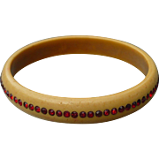Child's Rhinestone Celluloid Bracelet