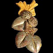 Bakelite Leaf Pin