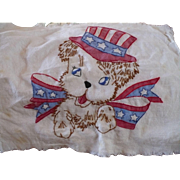 Uncle Sam Embroidered Dog