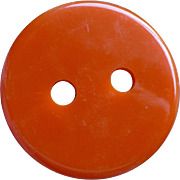 Large Orange Bakelite Button