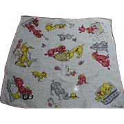 Poodle Linen Handkerchief by Liliane