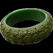 Green Octopus Bakelite Bracelet
