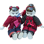 Pair China Dolls
