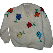 Mohair Floral Sweater