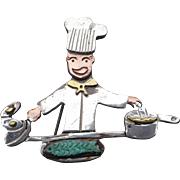 Sterling Chef Pin