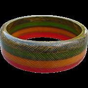 Stripe Bakelite Bracelet