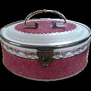 Porcelain Floral Casket Box