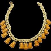 Bakelite Dangle Necklace
