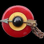 Target Bakelite Button