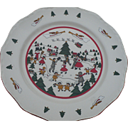 Masons Christmas Village Plate