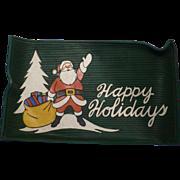 1950's Rubber Santa Christmas Mat