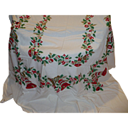 Christmas Holiday Tablecloth Large