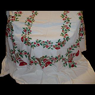 Christmas Holiday Tablecloth Large