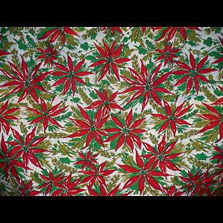 Poinsetta Xmas Tablecloth