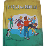 Singing Rhyming 1959 Music Book