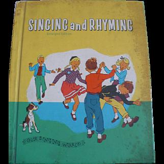 Singing Rhyming 1959 Music Book