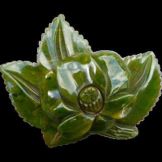 Green Bakelite Flower
