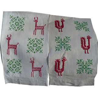 Holiday Embroidered Towels