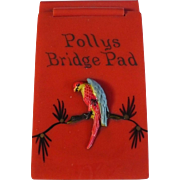 Parrot Celluloid Bridge Pad