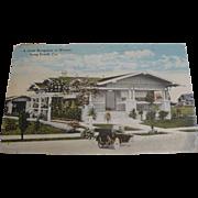 1926 Cozy Bunaglow Postcard