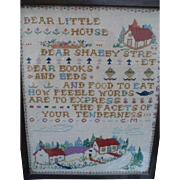 Hand Embroidered House Sampler
