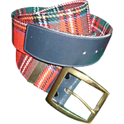 Tartan Plaid Wool Belt