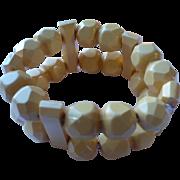 Cream Bakelite Bead Bracelet
