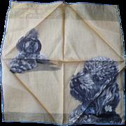 Yellow Poodle Handkerchief