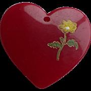 Bakelite Heart Charm